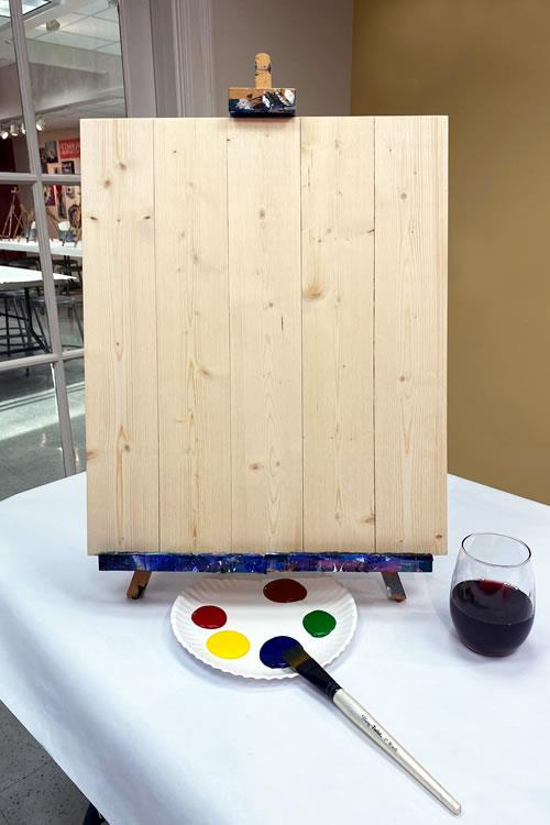 16x20 Pine Wood Board KIT Paint Brushes INCLUDED