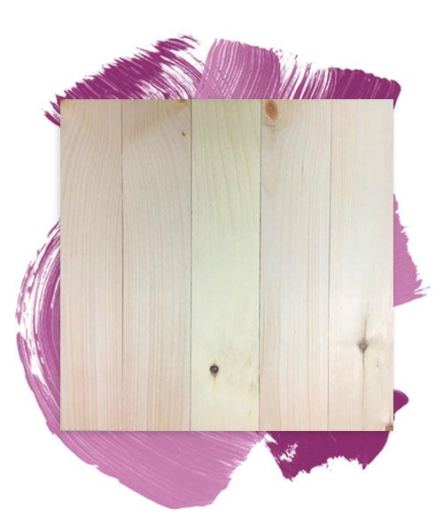 "17.5"" x 17"" SINGLE Pine Board Twist at Home Kit"